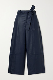 Jason Wu Cropped leather wide-leg pants