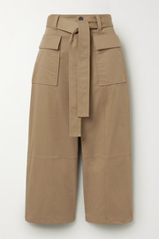 Jason Wu Cropped cotton-twill wide-leg pants