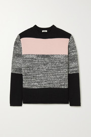 Jason Wu Color-block wool-blend sweater