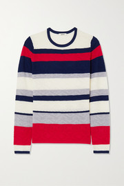 Jason Wu Striped pointelle-knit wool sweater