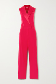 Jason Wu Satin-trimmed crepe jumpsuit