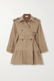 REDValentino Belted tiered gabardine trench coat