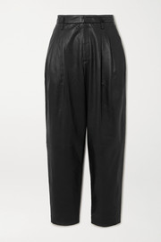 REDValentino Leather tapered pants