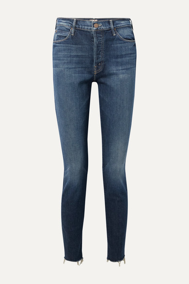 The Stunner Frayed High Rise Skinny Jeans by Mother