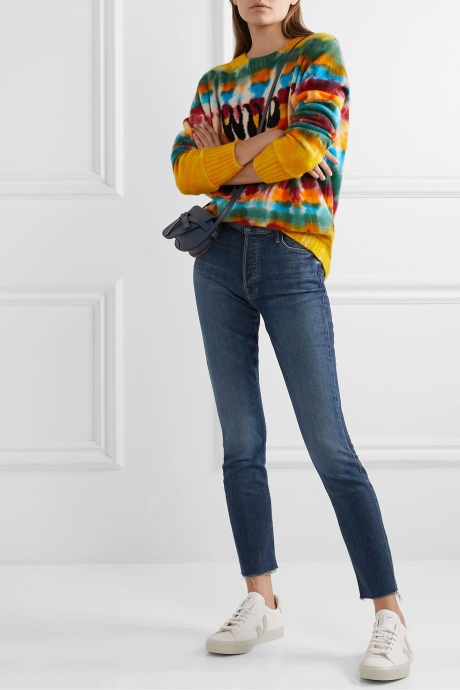 Mother The Stunner frayed mid-rise skinny jeans
