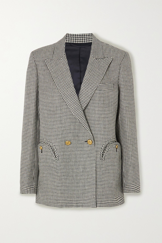 Blazé Milano Everynight double-breasted houndstooth linen blazer