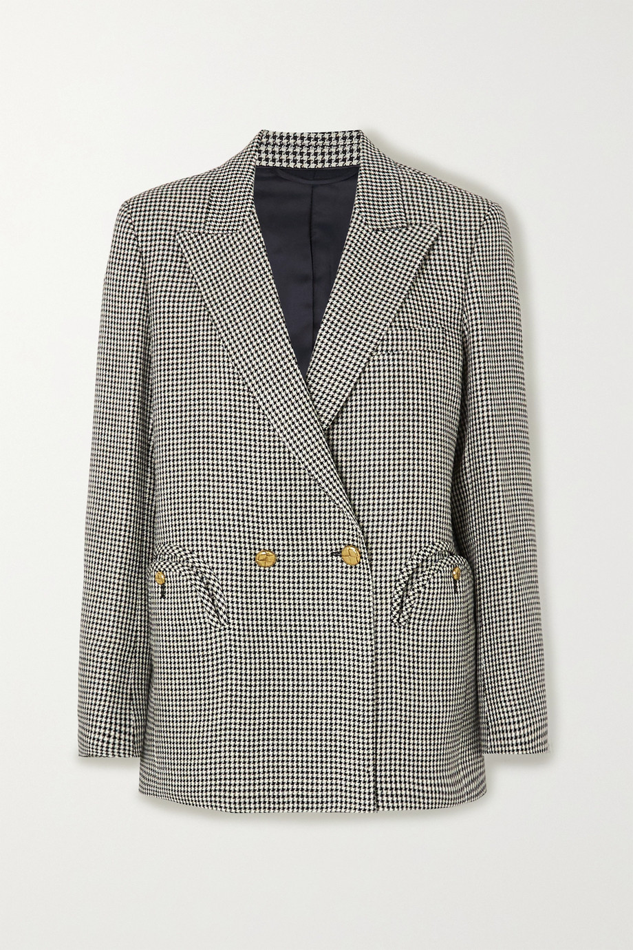 Blazé Milano Everynight double-breasted houndstooth linen blazer