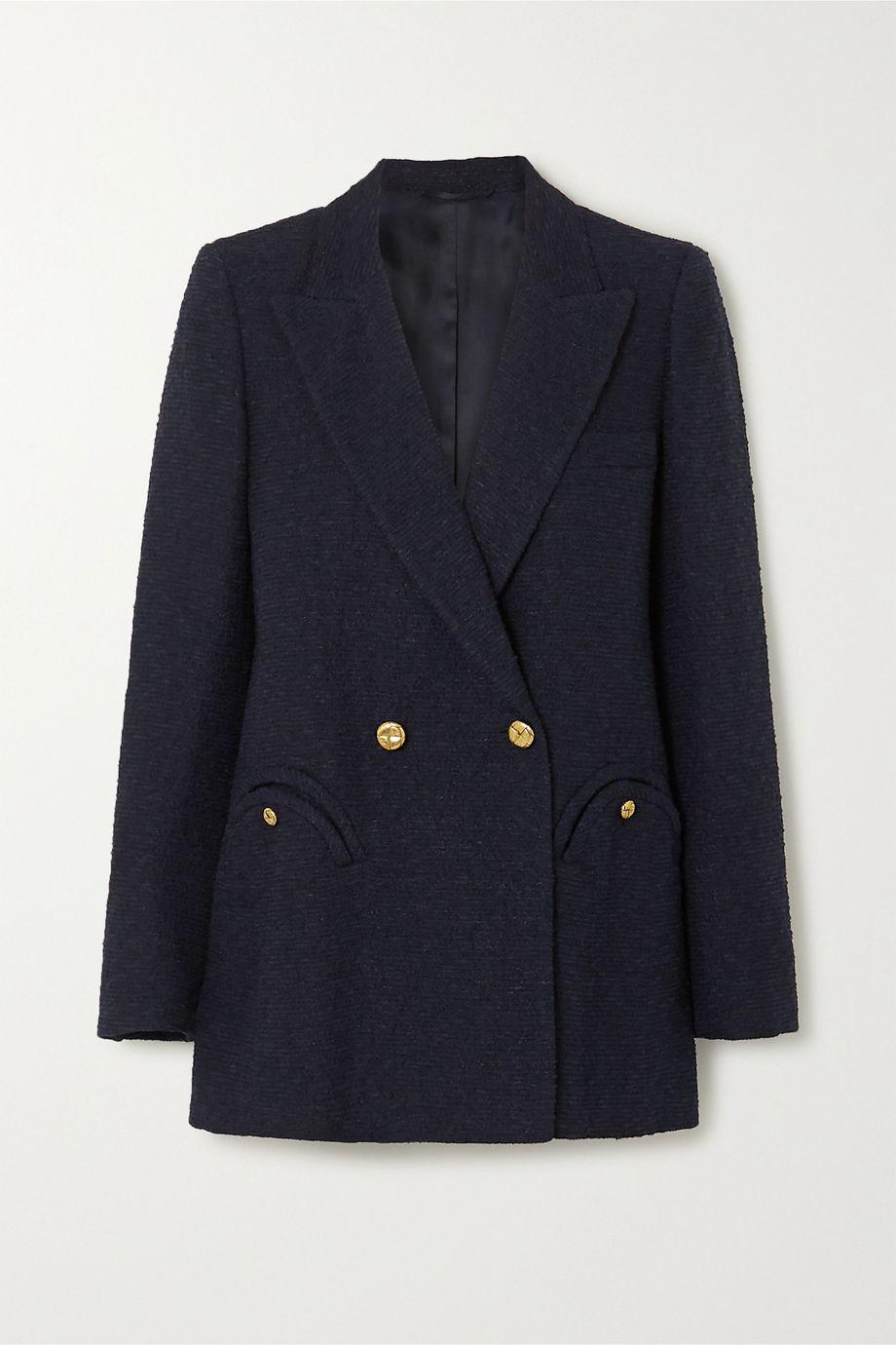 Blazé Milano Everyday double-breasted cotton-blend bouclé blazer