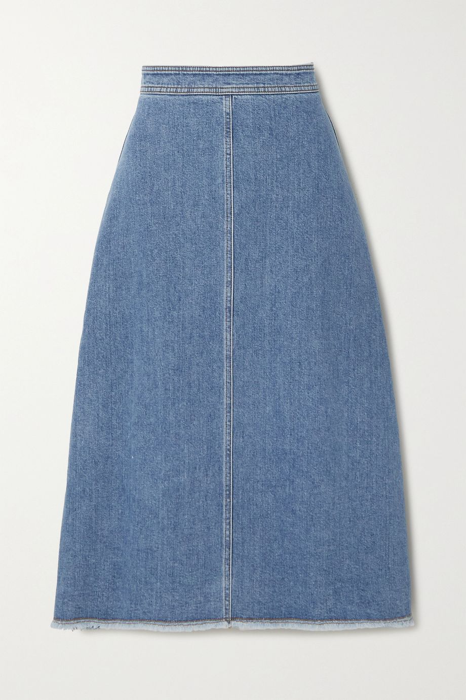 Philosophy di Lorenzo Serafini Frayed denim skirt