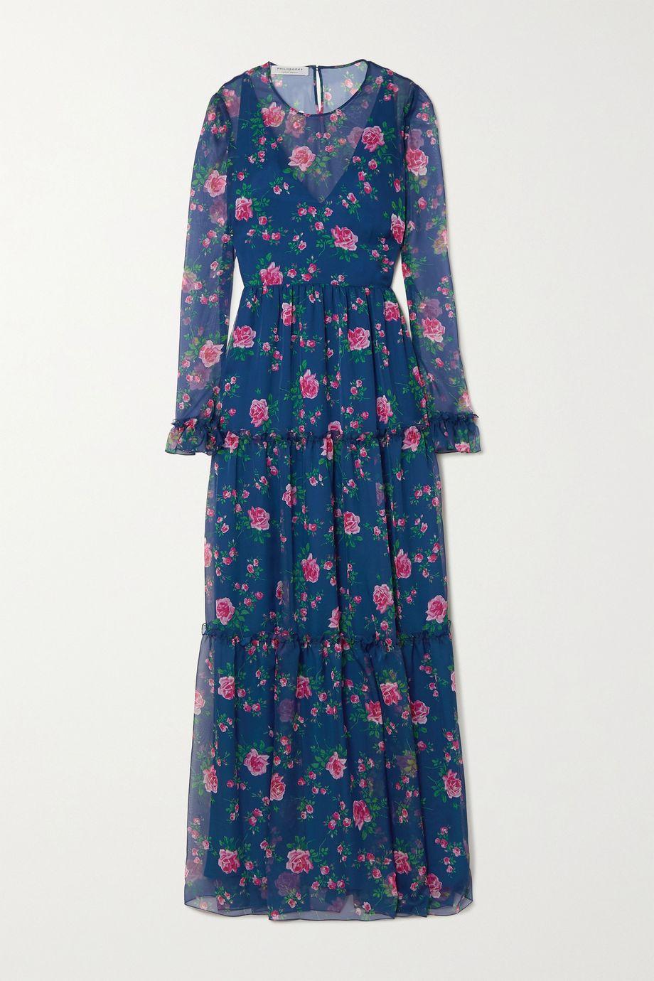 Philosophy di Lorenzo Serafini Tiered floral-print chiffon maxi dress