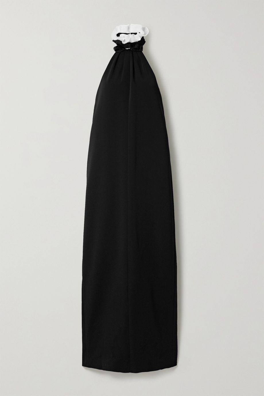 Philosophy di Lorenzo Serafini Ruffled sequin-embellished cady halterneck gown