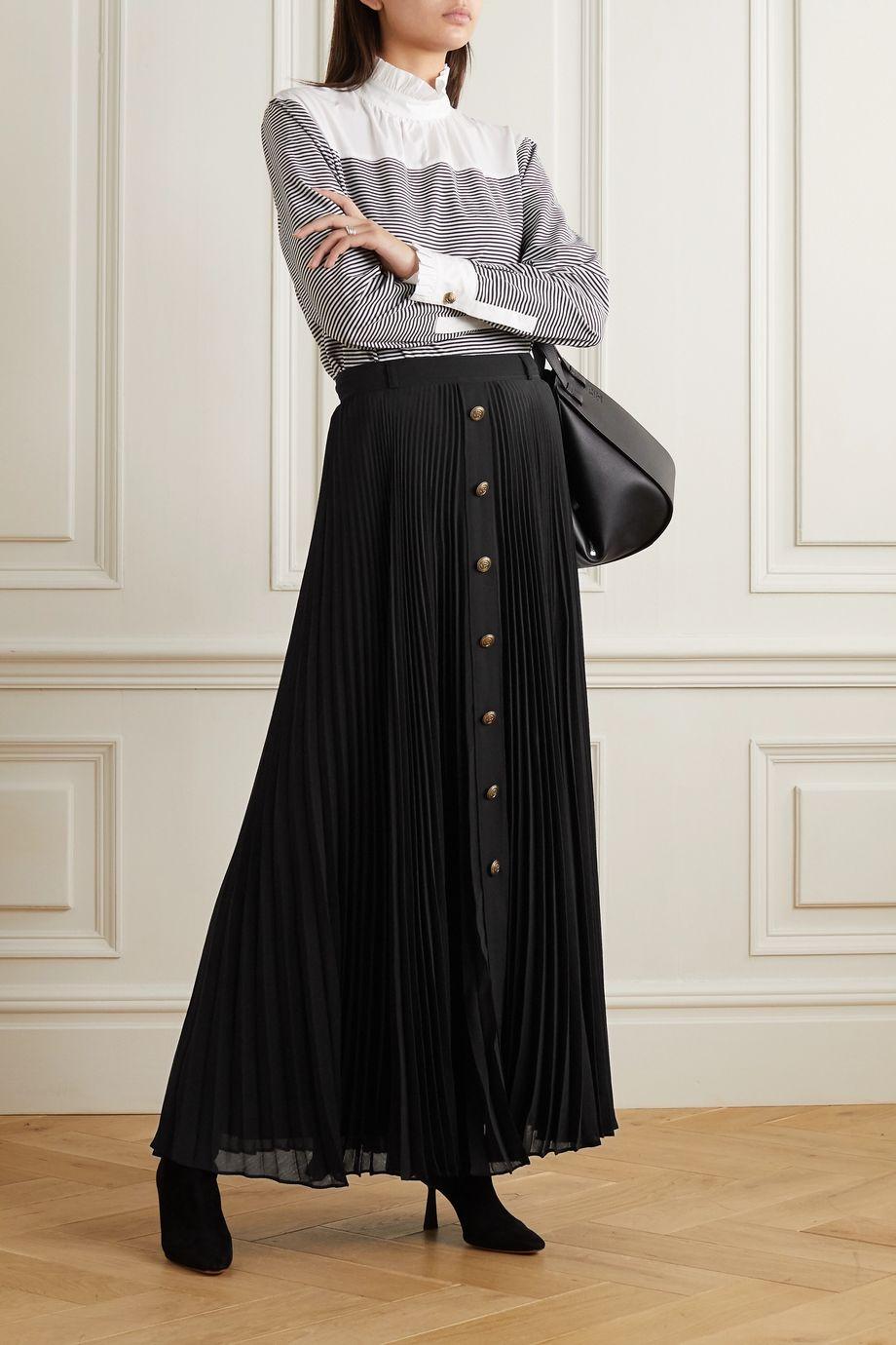 Philosophy di Lorenzo Serafini Pleated georgette maxi skirt