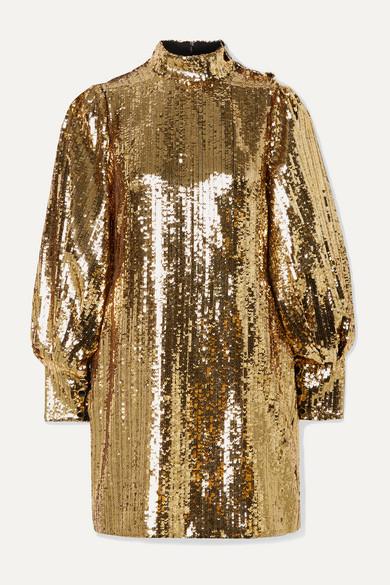 Borgo De Nor Dresses LIMA SEQUINED SATIN MINI DRESS