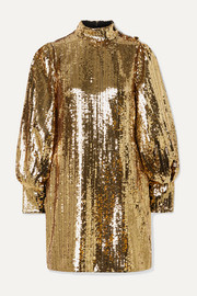 Borgo de Nor Lima sequined satin mini dress