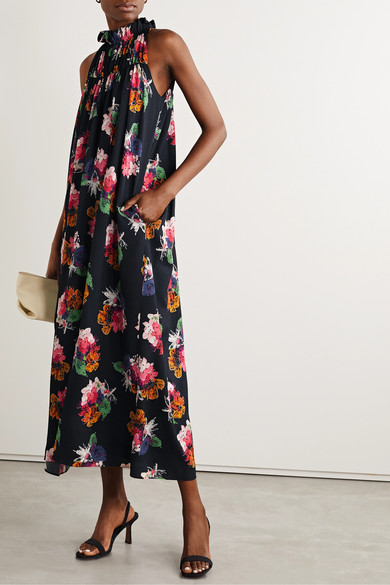 NY Collection Plus & Petite Plus Size Printed Keyhole Maxi