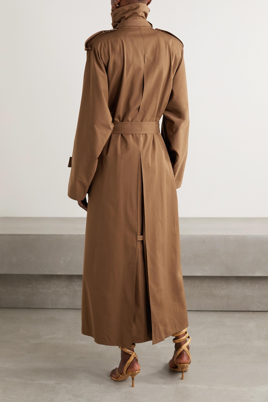 Bottega Veneta Doppelreihiger Trenchcoat aus Gabardine aus einer Baumwollmischung mit Gürtel