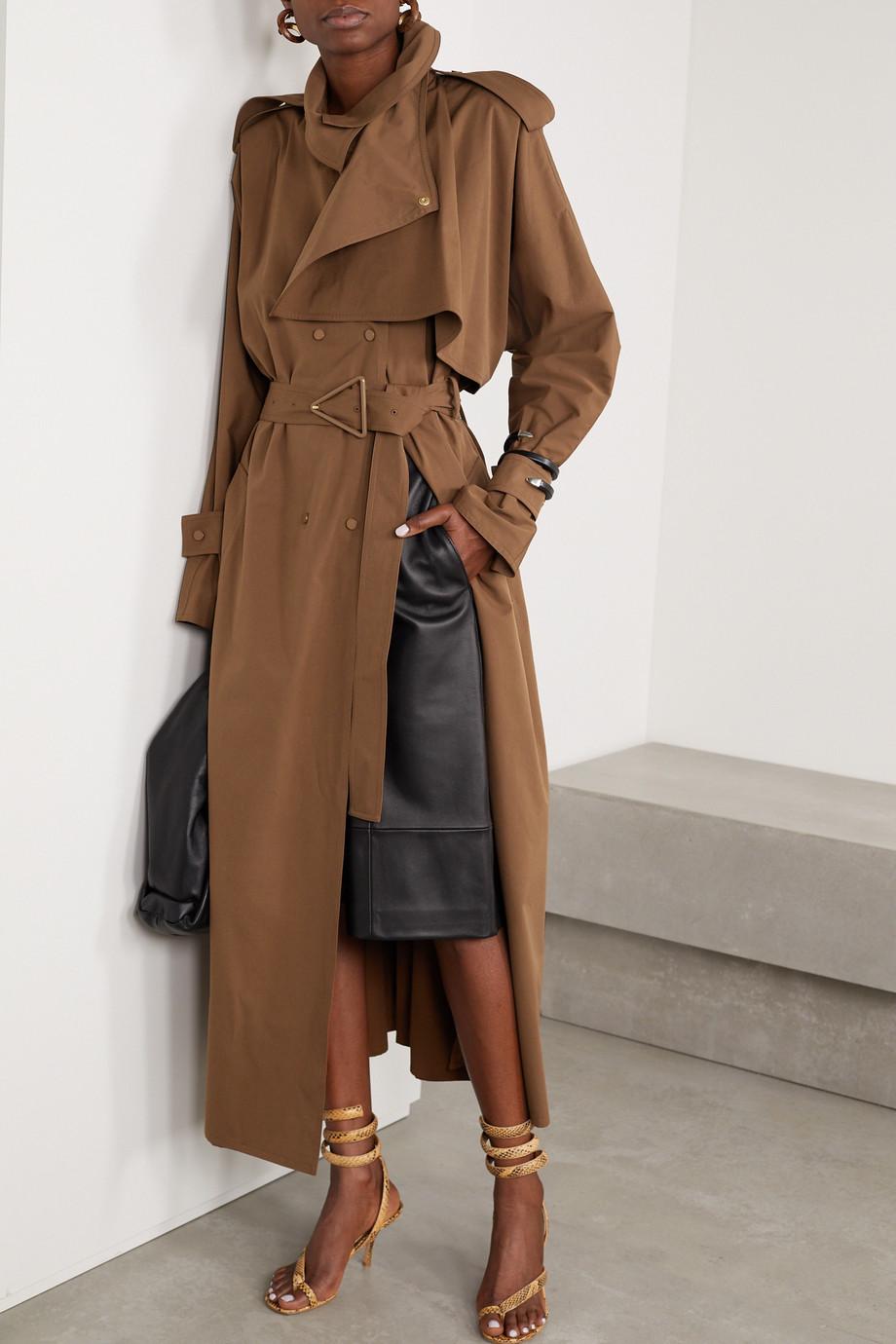 Bottega Veneta Belted double-breasted cotton-blend gabardine trench coat