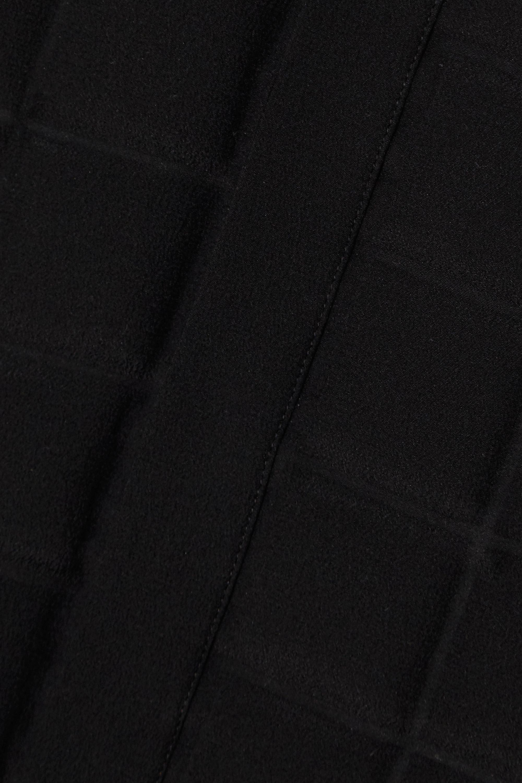 Bottega Veneta Quilted silk crepe de chine shirt dress