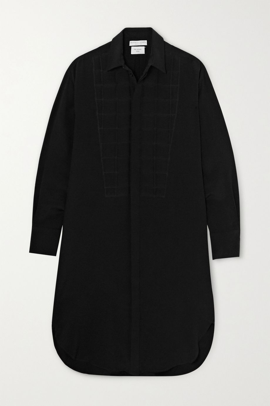 Bottega Veneta Quilted silk crepe de chine shirt dress