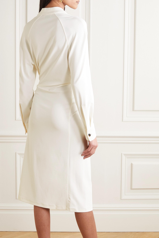 Bottega Veneta Embellished ruched stretch-jersey midi dress