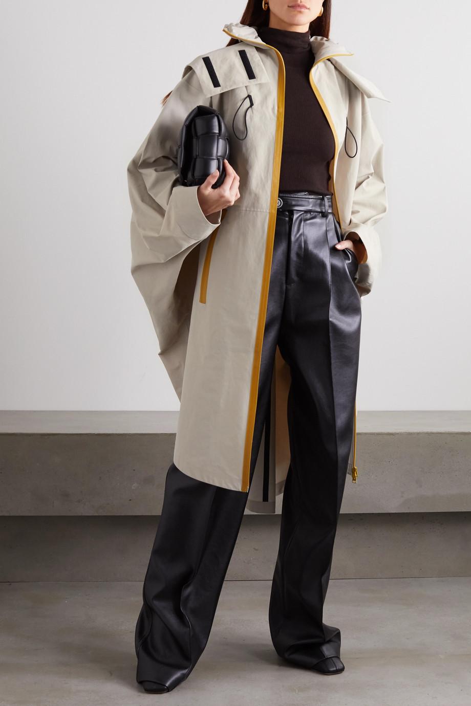 Bottega Veneta Manteau oversize à capuche en tissu technique