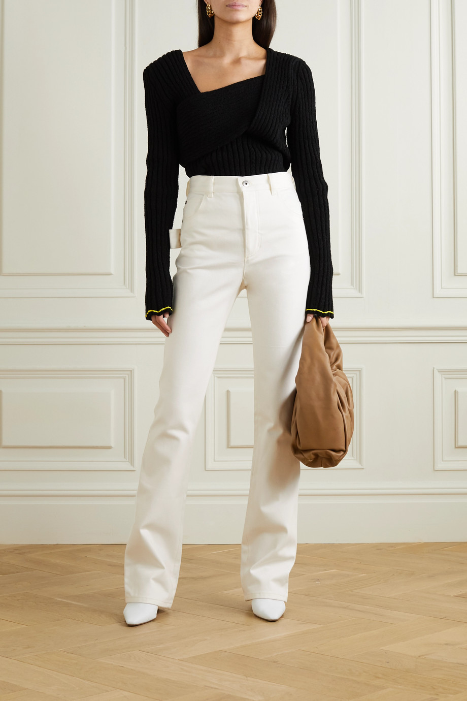 Bottega Veneta High-rise straight-leg jeans