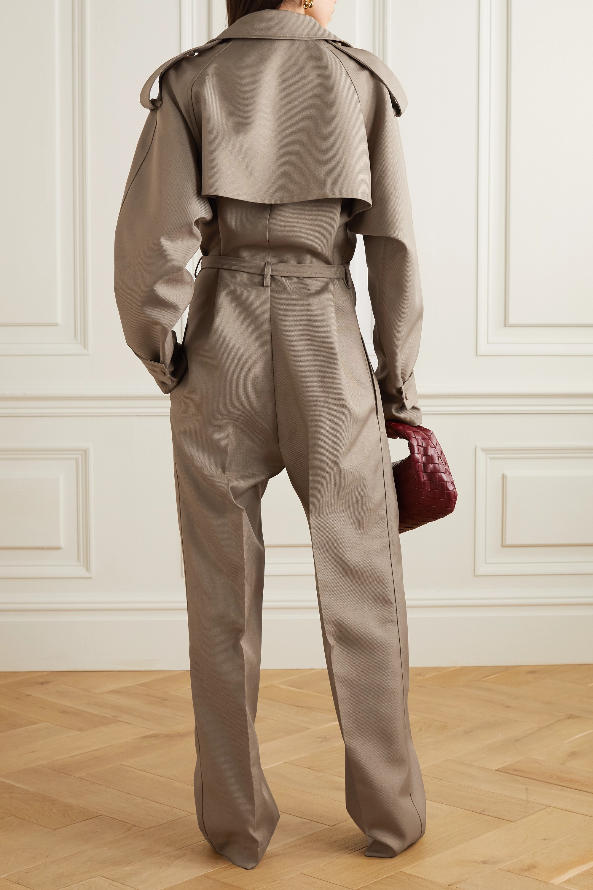 Bottega Veneta Belted drill jumpsuit