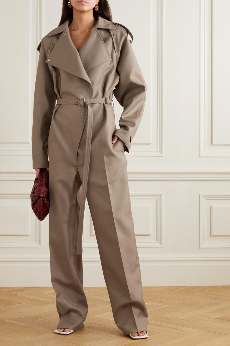 Bottega Veneta Jumpsuit aus Drillich mit Gürtel