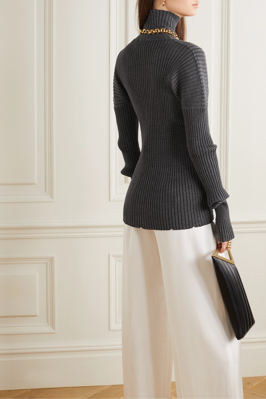 Bottega Veneta Ribbed wool turtleneck sweater