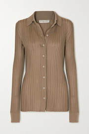 Bottega Veneta Ribbed silk top
