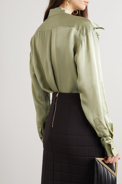Bottega Veneta Hemd aus glänzendem Twill