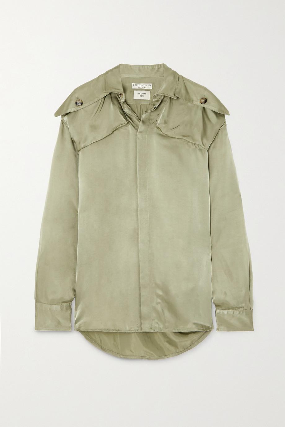Bottega Veneta Satin-twill shirt