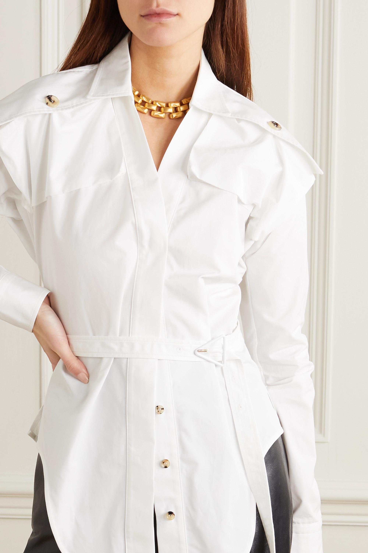 Bottega Veneta Chemise en popeline de coton à ceinture