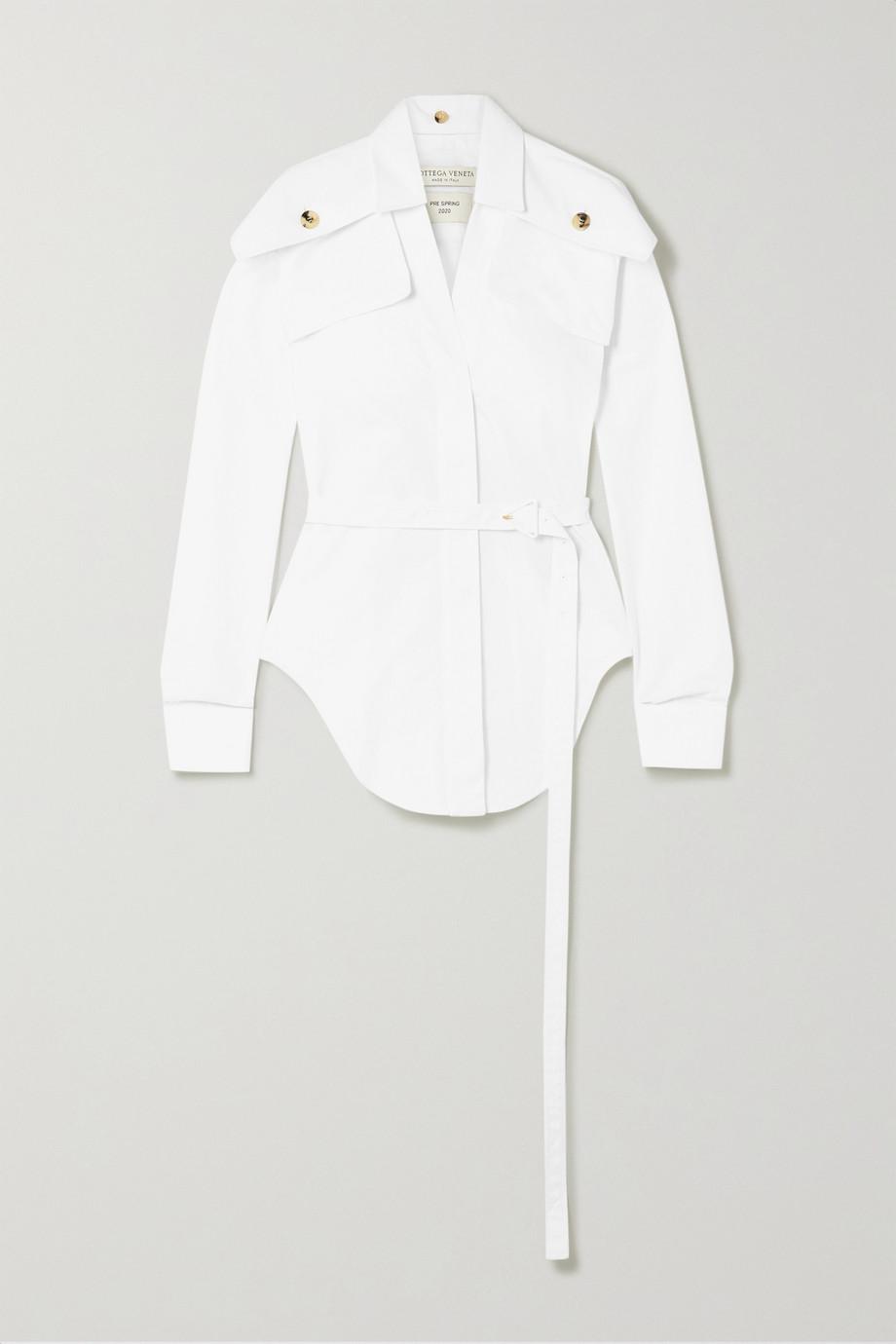 Bottega Veneta Belted cotton-poplin shirt