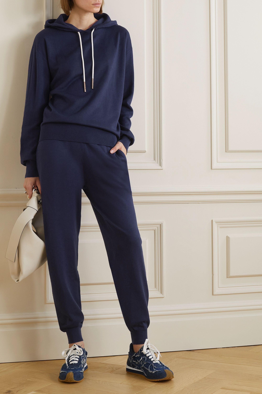 Olivia von Halle Gia Paris 真丝羊绒混纺帽衫休闲裤套装