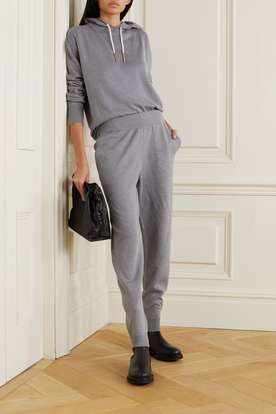 Olivia von Halle Gia London silk and cashmere-blend hoodie and track pants set