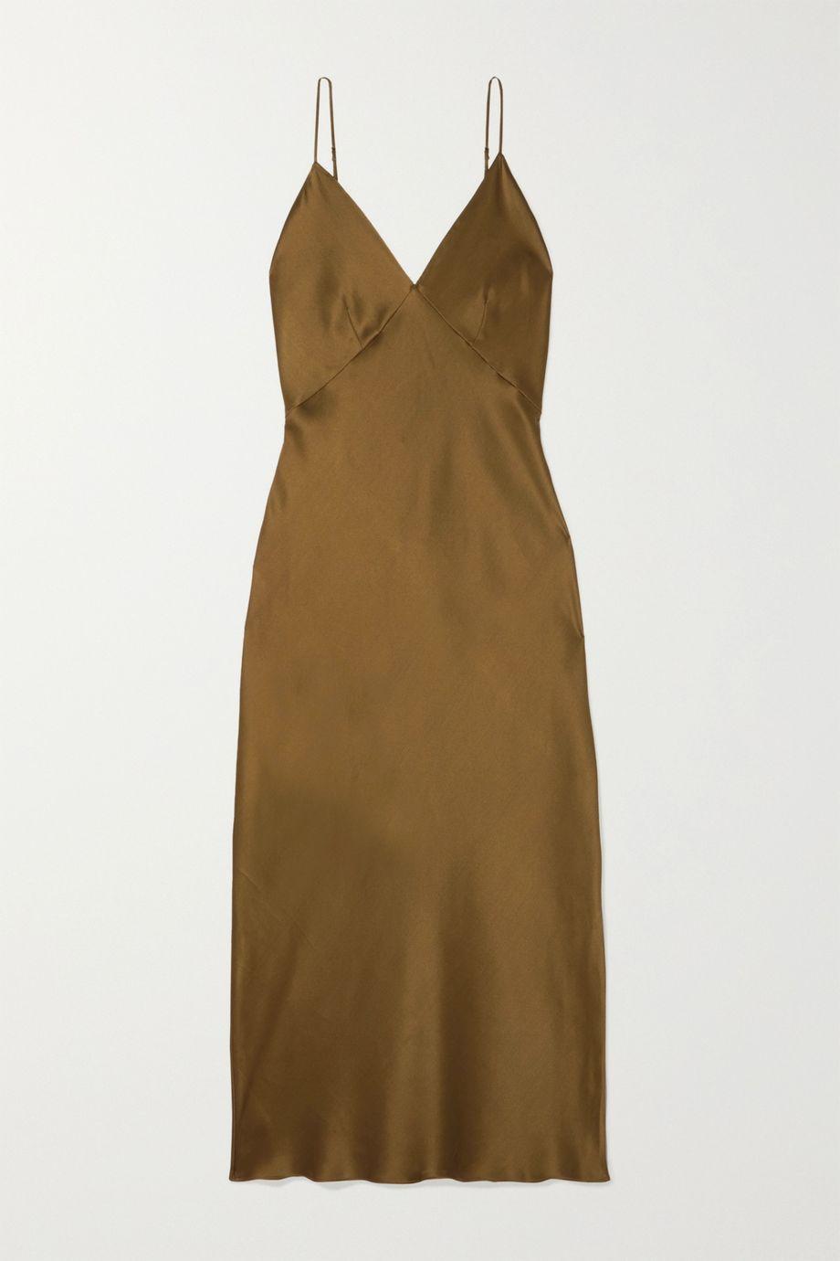 Olivia von Halle Issa silk-satin midi dress