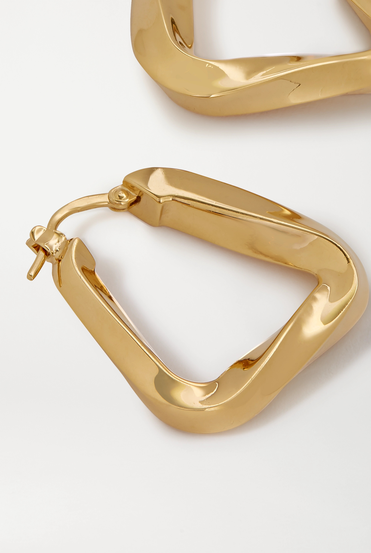 Bottega Veneta Gold-tone hoop earrings