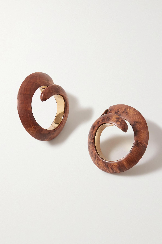 Bottega Veneta Gold-tone wood earrings