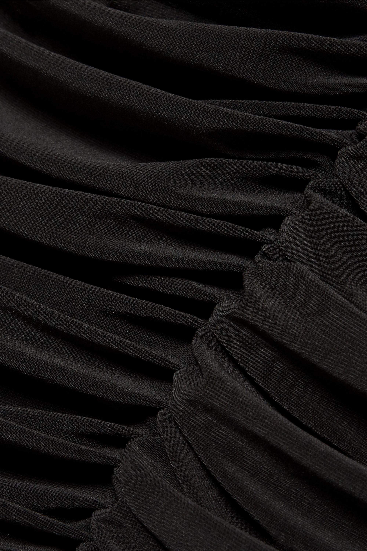 Norma Kamali Slinky strapless ruched stretch-jersey midi dress