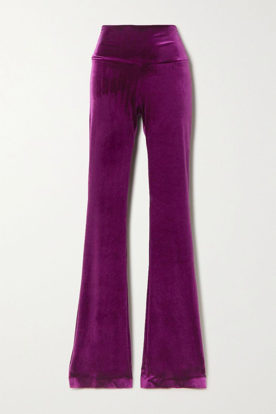 Norma Kamali Pantalon bootcut en velours stretch