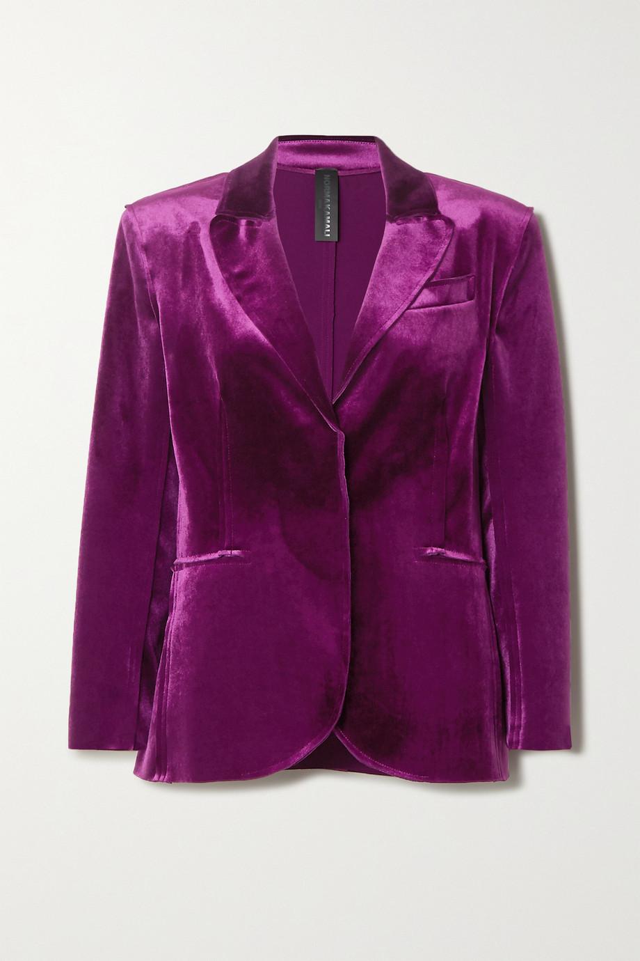 Norma Kamali Stretch-velvet blazer