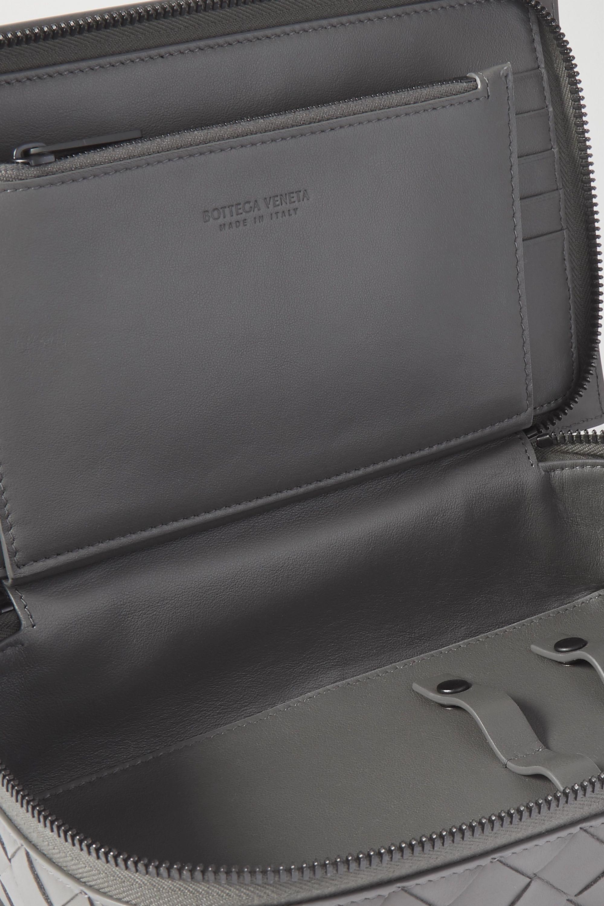 Bottega Veneta Intrecciato leather jewelry case