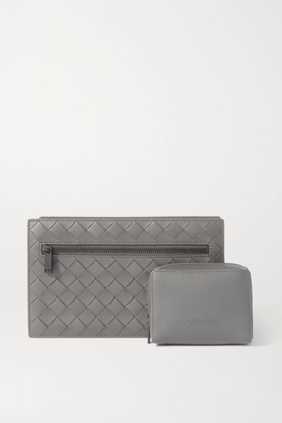 Bottega Veneta Intrecciato leather jewelry case