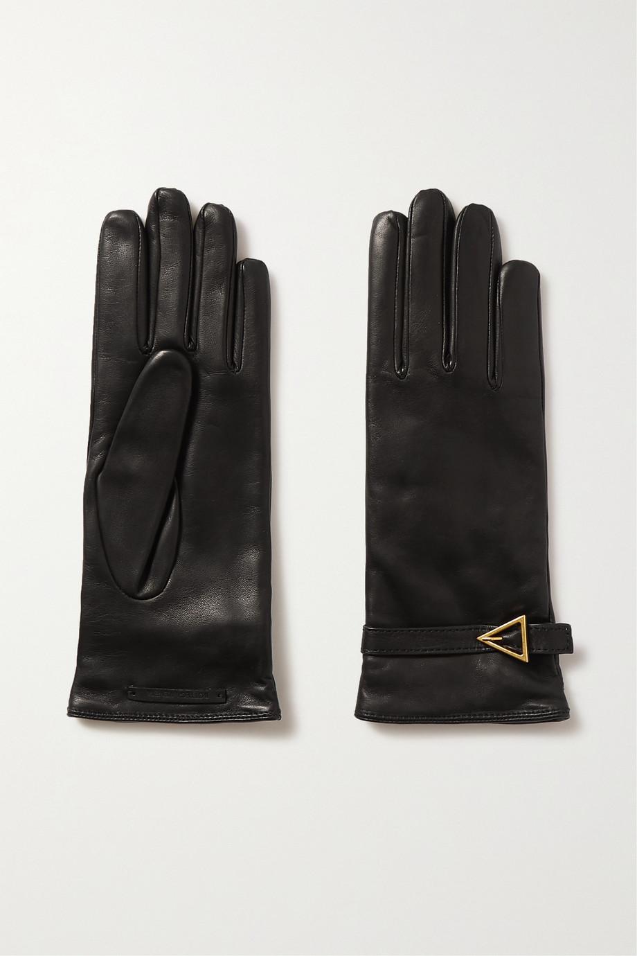Bottega Veneta Handschuhe aus Leder mit Verzierung