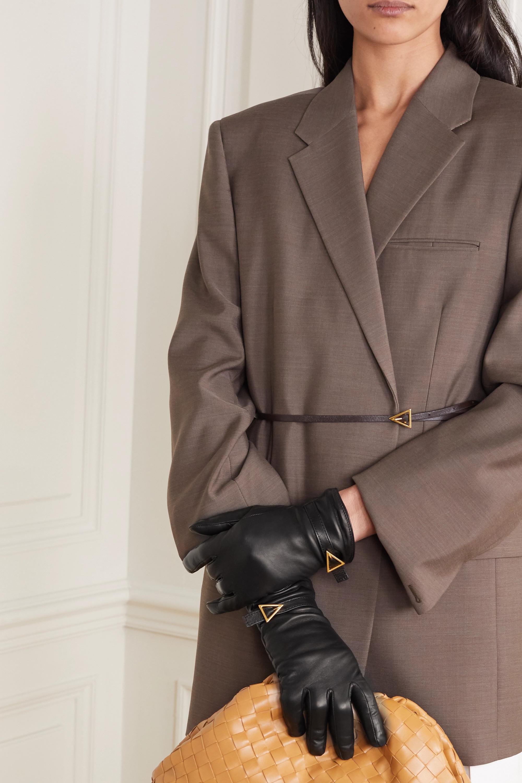 Bottega Veneta Embellished leather gloves
