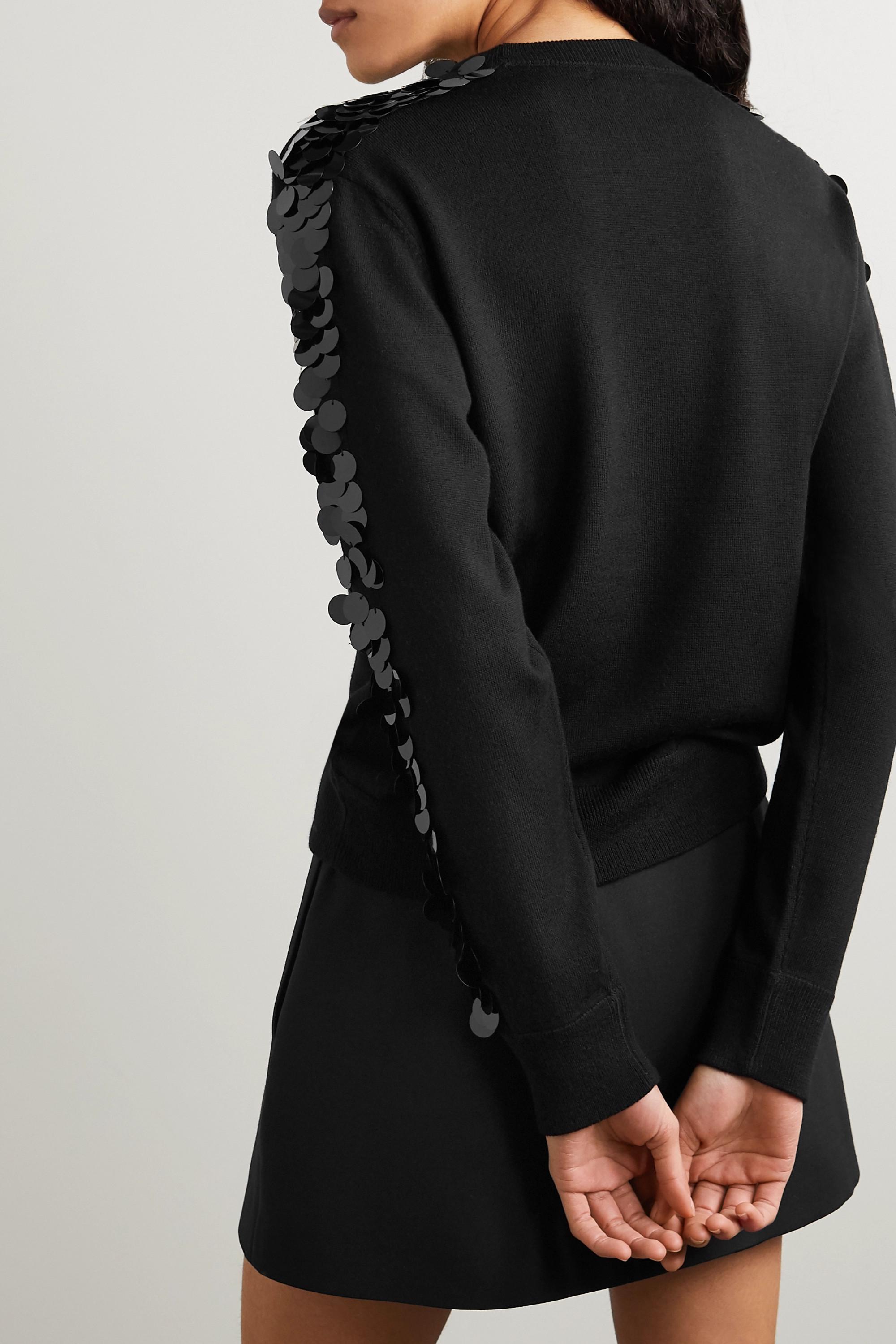 Bella Freud Lady Day paillette-embellished wool sweater