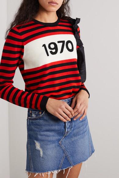 1970 Striped Merino Wool Sweater by Bella Freud