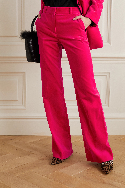Bella Freud David cotton-velvet wide-leg pants