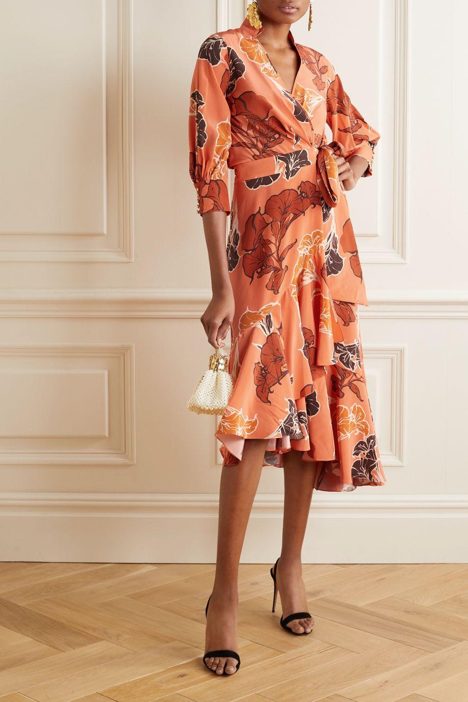 Johanna Ortiz Rum Journey asymmetric floral-print silk crepe de chine wrap dress